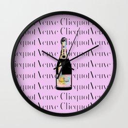 Veuve Clicquot Pop Art 2 - Pink Rainbow Wall Clock