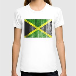Jamaica Flag Grungy Distressed Board T-shirt