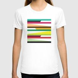 Geometric Pattern 73 (colorful stripes) T-shirt