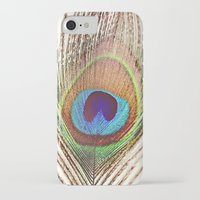 peacock iPhone & iPod Cases featuring Peacock by Laura Ruth
