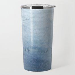 Indigo Abstract Painting | No. 5 Travel Mug