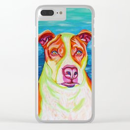 Rudy, the Science Dog Clear iPhone Case