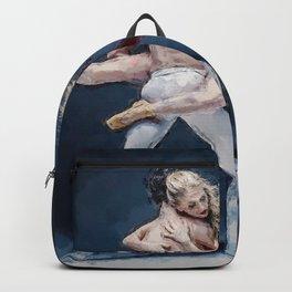 A Step of Two at the Bolshoi, Ballet a pas de deux portrait Backpack