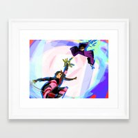 inuyasha Framed Art Prints featuring Inuyasha - Power Couple by MyopicBloom
