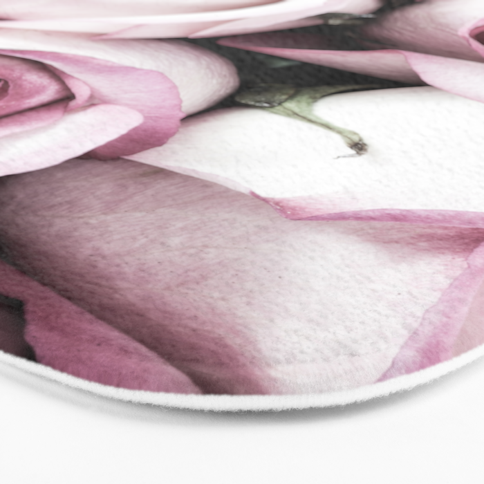 A Cascade of Perfectly Pink Roses Bath Mat