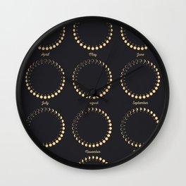 Lunar Calendar 2018 Wall Clock