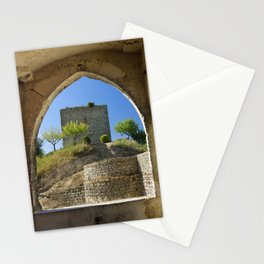 Ourem, castle window, Portugal Stationery Cards