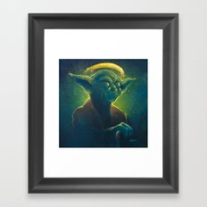 The Contemplation of Saint Yoda Framed Art Print
