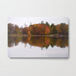 Mirror Reflection in Fall Metal Print