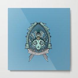 Blue skull crest Metal Print