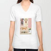 happy birthday V-neck T-shirts featuring Happy Birthday by Judith Loske