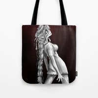 silent hill Tote Bags featuring Silent Hill Nurse by The Dragon Studio Store