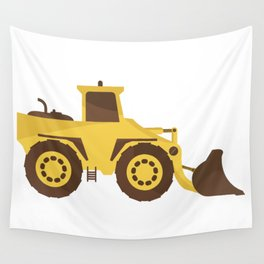 excavator Wall Tapestry