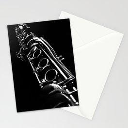 B&W Clarinet Stationery Cards