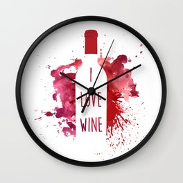 wine bottle Wall Clock