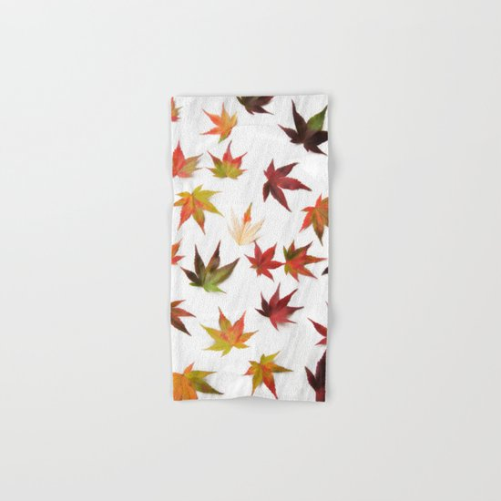 AUTUMN LEAVES PATTERN #2 #decor #art #society6 Hand & Bath Towel