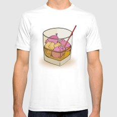 Pickle Pigs Too Mens Fitted Tee MEDIUM White