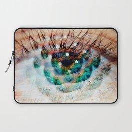 Green Eyes Hypnotize Laptop Sleeve