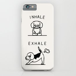 Inhale Exhale Beagle iPhone Case