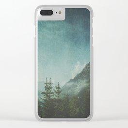 Misty Wilderness - Italian Alps Clear iPhone Case
