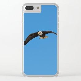 Eagle In Flight - Alaska Clear iPhone Case