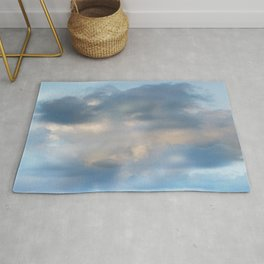 Abstract clouds Rug