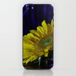 Sunflower and blue iPhone Skin