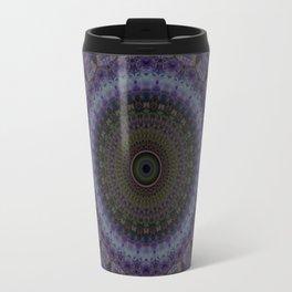Mandala in blue and violet Travel Mug