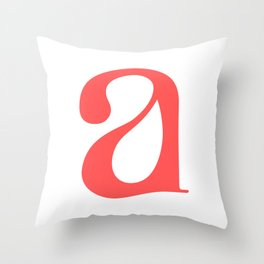 lowercase a Throw Pillow