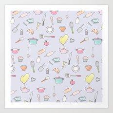 Cooking Pattern Art Print