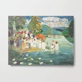 African American Masterpiece 'Baptism at Aquia Creek' by Palmer Hayden Metal Print