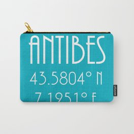 Antibes Latitude Longitude Carry-All Pouch