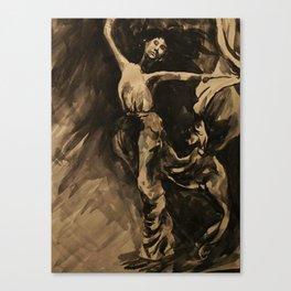 Dancer (Black & White) Canvas Print