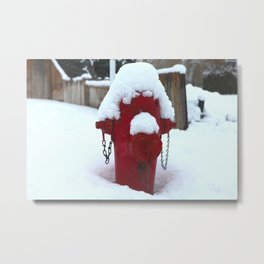 My little fire fighter Metal Print