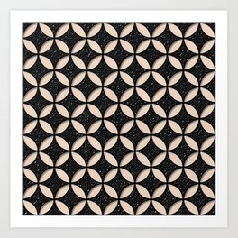 Leather and Skin Circles Pattern Art Print