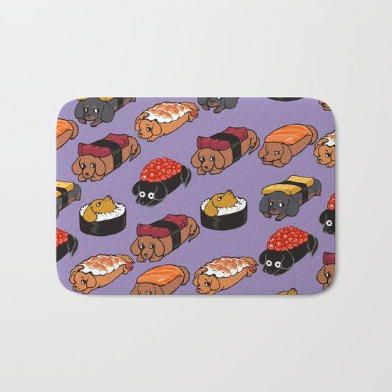 Sushi Daschunds Bath Mat