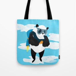 Jetpack Panda Tote Bag