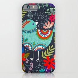 mandala flower birds iPhone Case