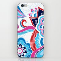 henna iPhone & iPod Skins featuring Henna Colourful by nicky9