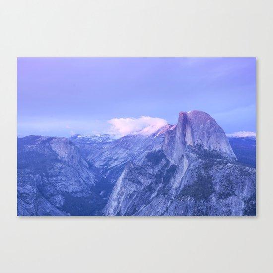 Lavendar Half Dome Canvas Print