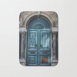 Antique Teal Blue Doorway Bath Mat