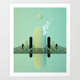 MARIO MOUNTAINS Art Print
