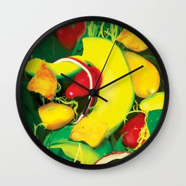 Avocado Salad Wall Clock