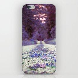 Walking through Purple iPhone Skin
