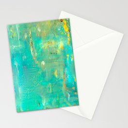 Planet Teal Stationery Cards