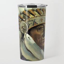 Vintage American Travel Poster - SANTA FE, THE CHIEF WAY Travel Mug