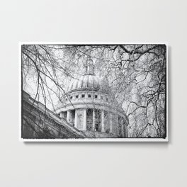 St Paul's Through the Trees Metal Print