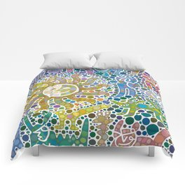 Colored Fauna with Sun Comforters