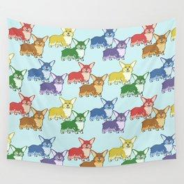 Corgi Skittles Wall Tapestry