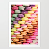 macaroons Art Prints featuring Macaroons by lescapricesdefilles
